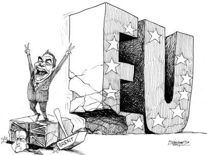 karikatur für tribüne-ausgeschlagen
